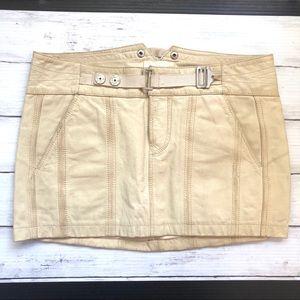 Diesel 100% Leather Mini Skirt